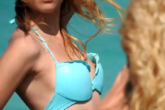 Beach nipple slips downblouse was specially