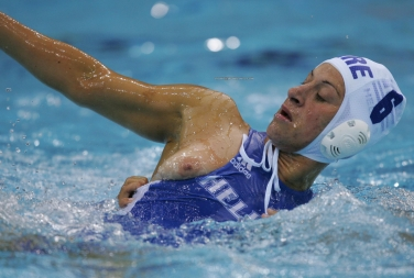 Female waterpolo is a really hard game but great for nippleslip